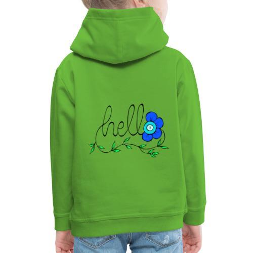 Hello Blume. - Kinder Premium Hoodie