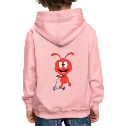 Lustige Ameise - Roller - Sport - Kind - Baby - Kinder Premium Hoodie