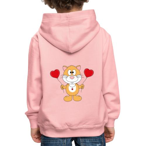 Lustiger Hamster - Herzen - Luftballons - Liebe - Kinder Premium Hoodie