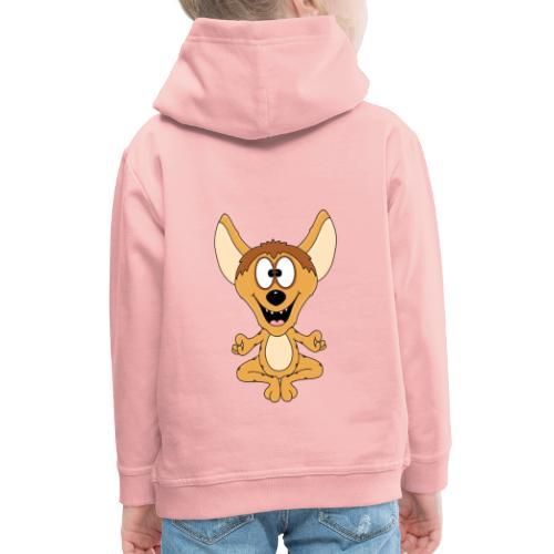 Lustige Hyäne - Yoga - Chillen - Relaxen - Fun - Kinder Premium Hoodie