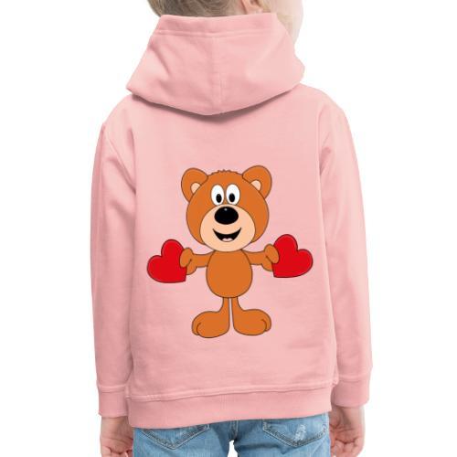 TEDDY - BÄR - LIEBE - LOVE - KIND - BABY - Kinder Premium Hoodie