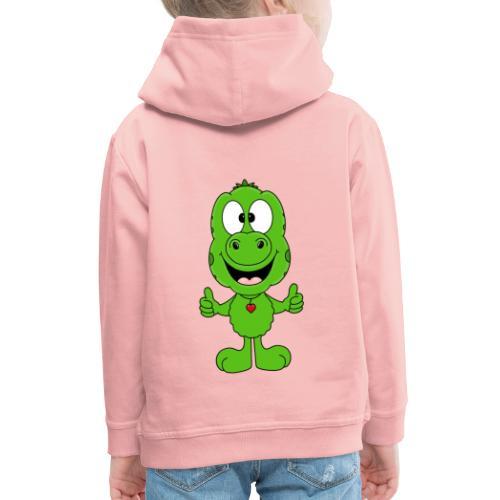 DINO - DINOSAURIER - LIKE - LIKEN - MÖGEN - KIND - Kinder Premium Hoodie