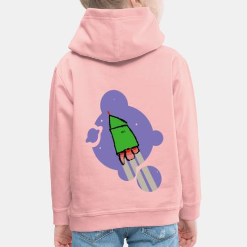 Cohete camiseta pantone - Sudadera con capucha premium niño