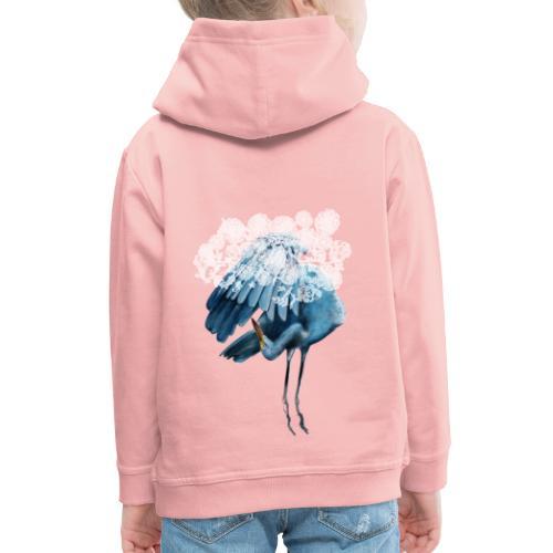 Blu Flamingo - Felpa con cappuccio Premium per bambini