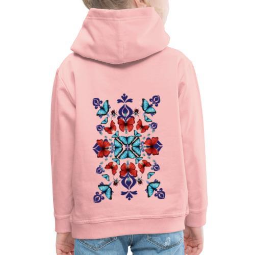 Mix di farfalle - Felpa con cappuccio Premium per bambini