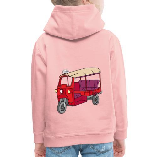 Rote Autorikscha, Tuk-tuk - Kinder Premium Hoodie