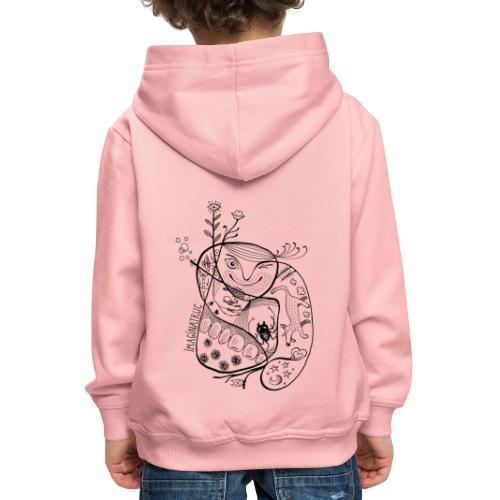 fleurs bulles araignée loup - Pull à capuche Premium Enfant