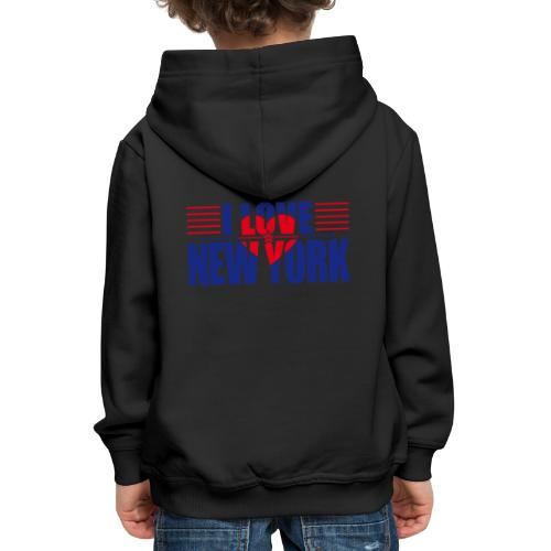 love new york - Pull à capuche Premium Enfant