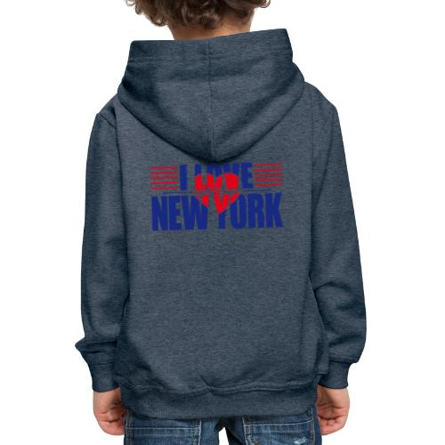 love new york - Pull à capuche Premium Enfant