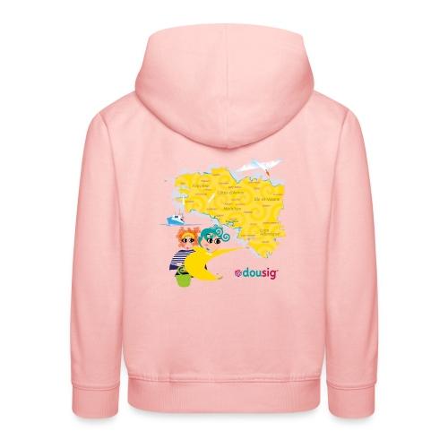 Carte de la Bretagne Dousig - Pull à capuche Premium Enfant