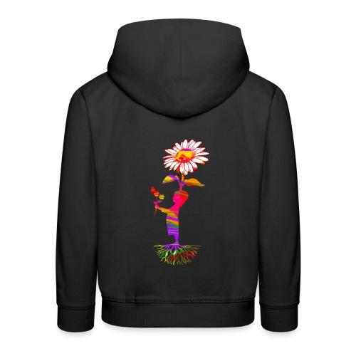 bloemenkind - Kinderen trui Premium met capuchon