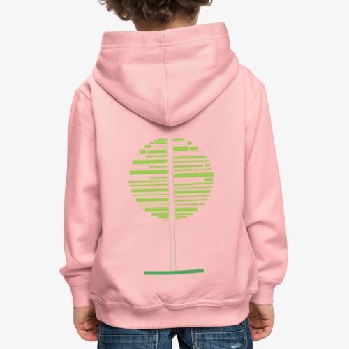 Albero verde - Felpa con cappuccio Premium per bambini