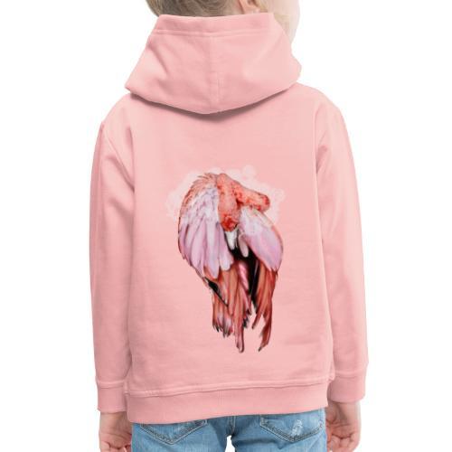 Fenicottero rosa - Felpa con cappuccio Premium per bambini