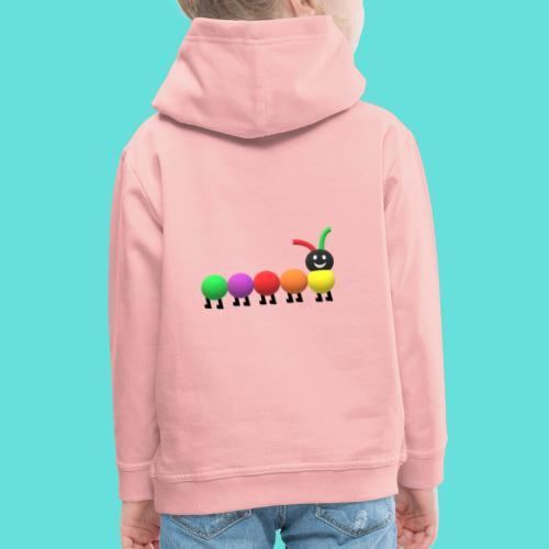 Chenille coloré. - Pull à capuche Premium Enfant