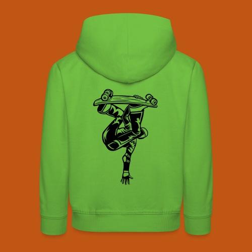 Skater / Skateboarder 03_schwarz - Kinder Premium Hoodie