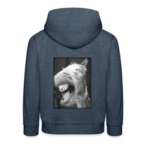 lachender Esel - Kinder Premium Hoodie