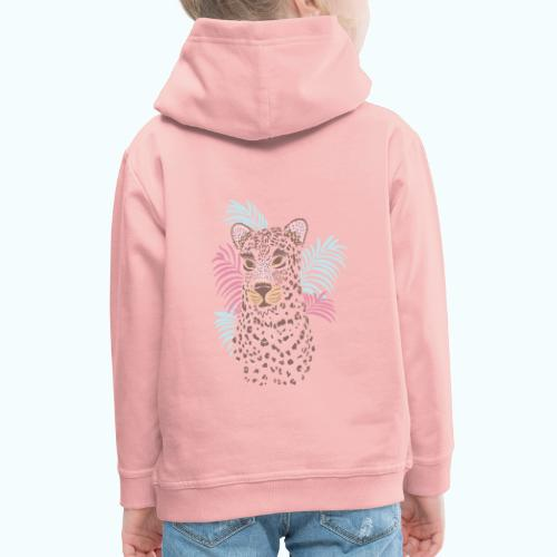 80s Pastel Color Cat - Kids' Premium Hoodie