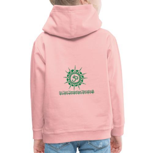 Ganesha Mantra OM Symbol Yoga Tshirt Hoodie - Kinder Premium Hoodie