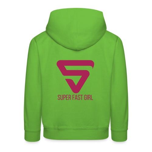 Super Fast Girl - Pull à capuche Premium Enfant