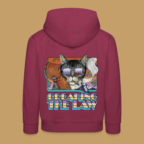 Crime Cat in Shades - Braking the Law - Bluza dziecięca z kapturem Premium