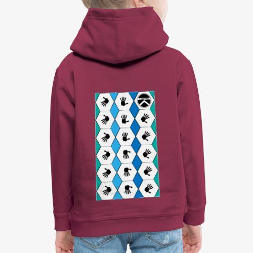 |K·CLOTHES| HEXAGON ESSENCE BLUES & WHITE - Sudadera con capucha premium niño