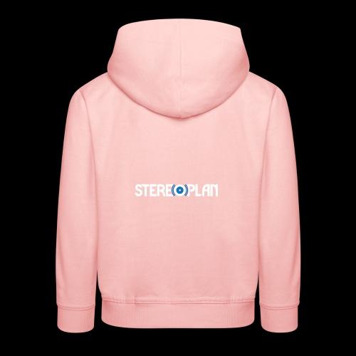 Stereoplan Logotype white - Premium-Luvtröja barn