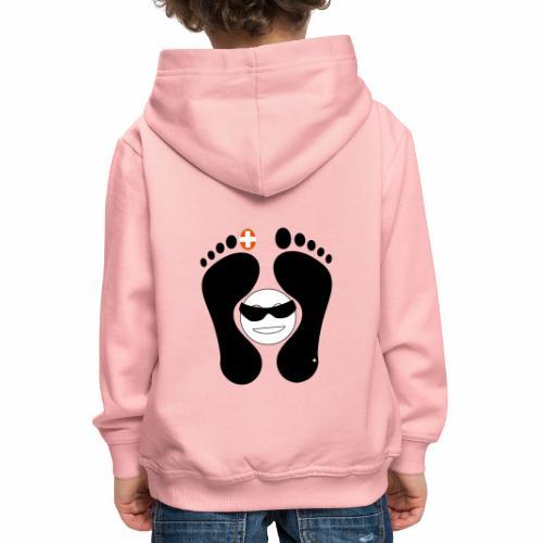 Barfuss-Logo mit coolem Smile - Kinder Premium Hoodie
