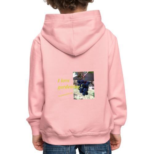 Weintraube - I love gardening - Kinder Premium Hoodie