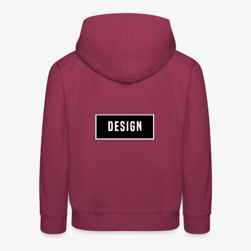 design logo - Kinderen trui Premium met capuchon