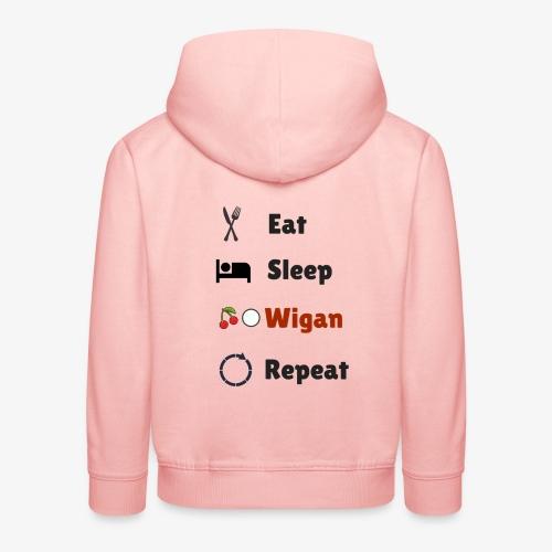 Eat Sleep Wigan Repeat - Kids' Premium Hoodie