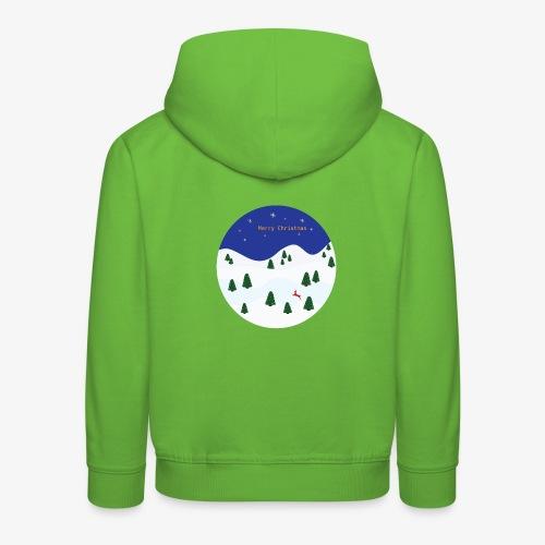 boule Noël bleue - Kids' Premium Hoodie