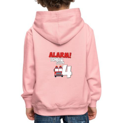 Feuerwehrauto 4. Geburtstag Jungen 4 Jahre - Kinder Premium Hoodie