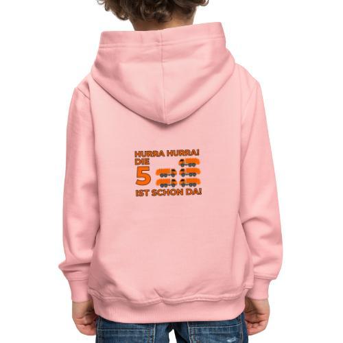 Piąte urodziny prezent dla chłopca śmieciarka - Bluza dziecięca z kapturem Premium