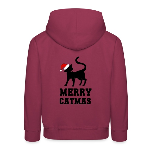 Merry Catmas - Silhouette - Kinder Premium Hoodie