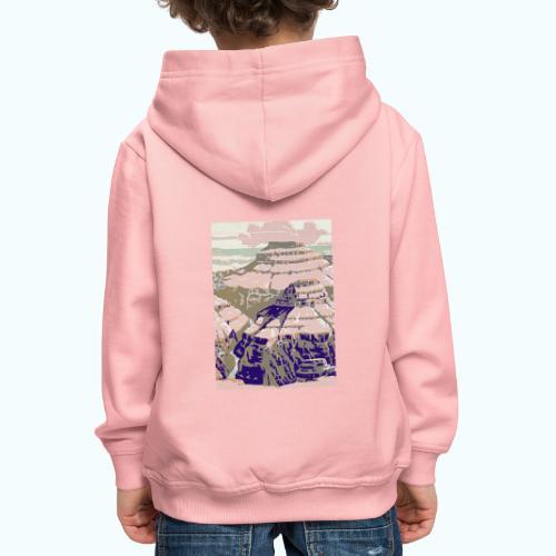 Rocky Mountains Vintage Travel Poster - Kids' Premium Hoodie