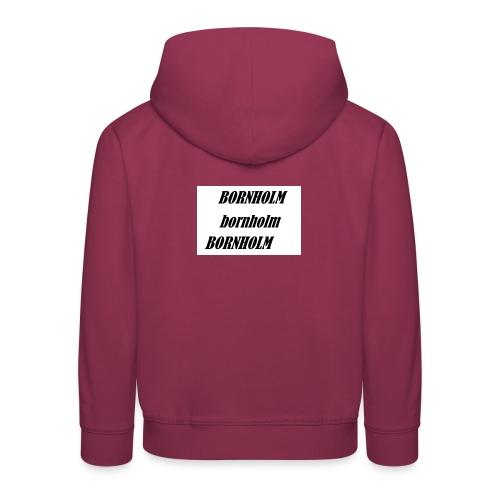 Bornholm Bornholm Bornholm - Premium hættetrøje til børn