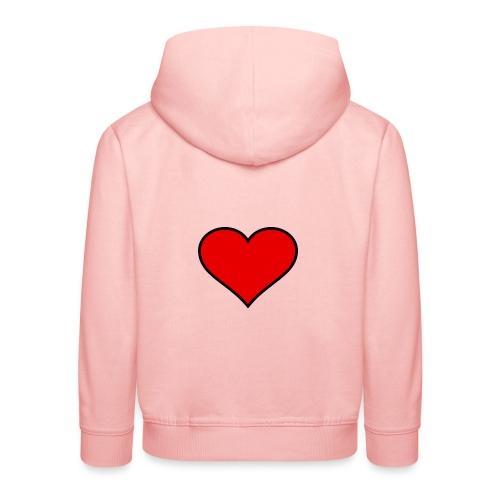 big heart clipart 3 - Premium-Luvtröja barn