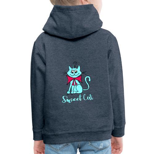 Niedliche kleine blaue Katze, Sweet! - Kinder Premium Hoodie