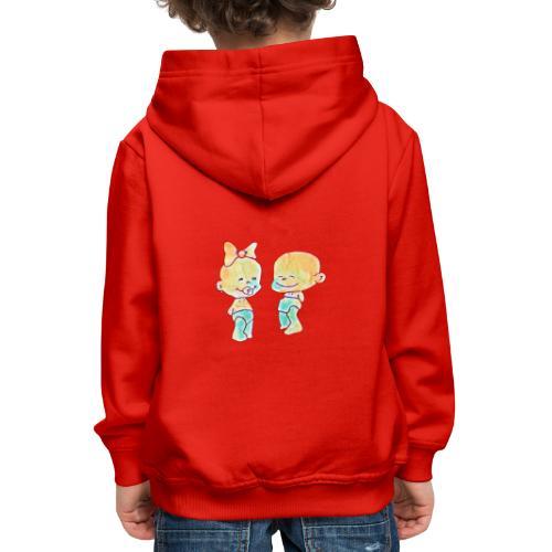 Bambini innamorati - Felpa con cappuccio Premium per bambini