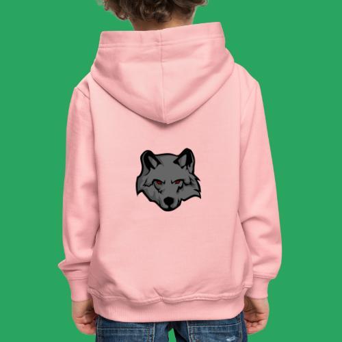wolf logo - Felpa con cappuccio Premium per bambini