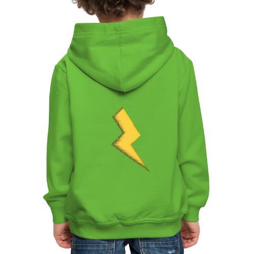 Fulmine - Felpa con cappuccio Premium per bambini