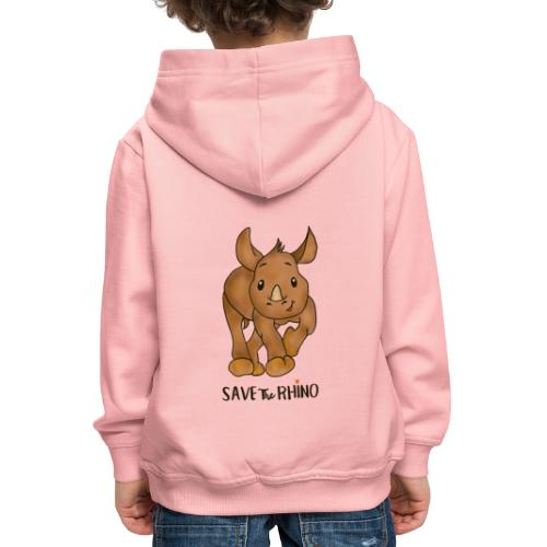 Save the Rhino - Kids' Premium Hoodie