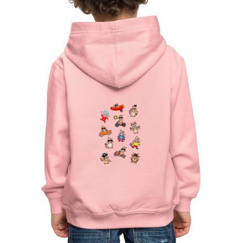 Lustiges Hasenwimmelbild - Kinder Premium Hoodie
