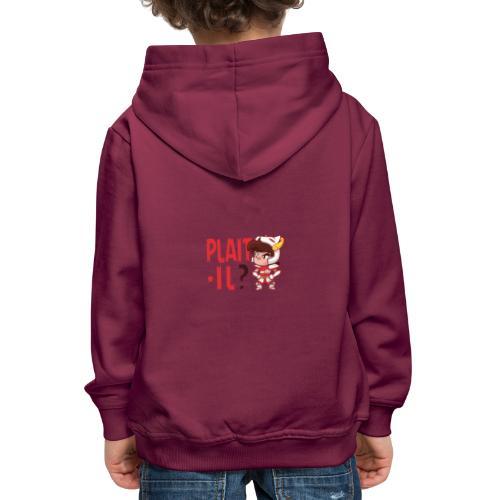 Seiya - Plaît-il ? (texte rouge) - Pull à capuche Premium Enfant