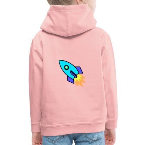 Blue rocket - Kids' Premium Hoodie