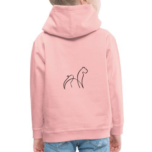 randy sinfondo negro - Sudadera con capucha premium niño