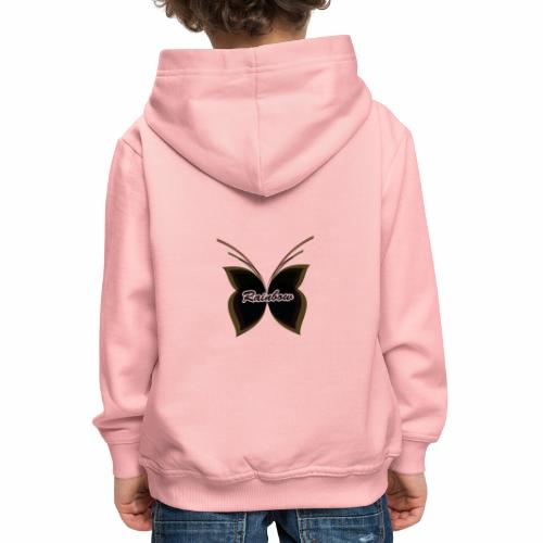 Black Butterfly Rainbow - Kinder Premium Hoodie