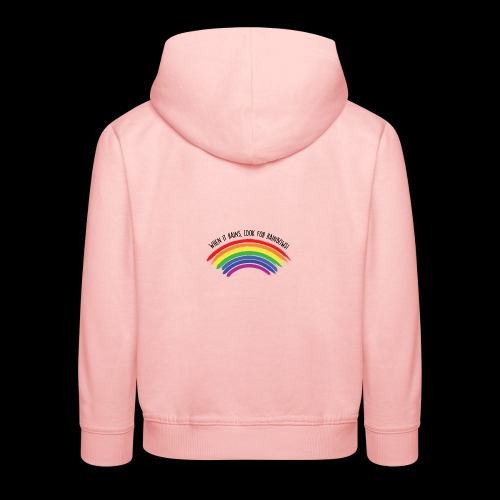 When it rains, look for rainbows! - Colorful Desig - Felpa con cappuccio Premium per bambini
