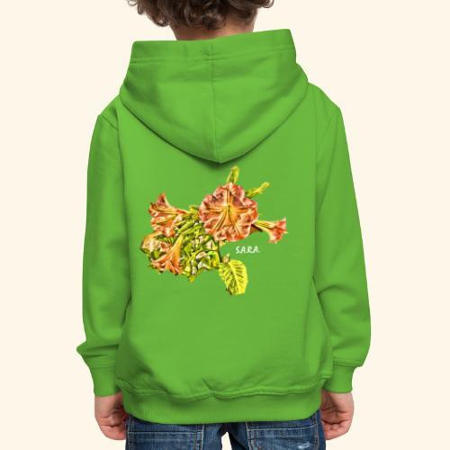 Trompetenbaum Blüten von S.A.R.A. - Kinder Premium Hoodie