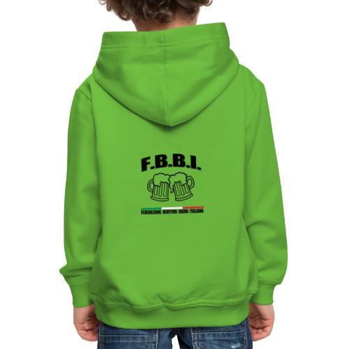 FBBI LOGO NERO - Felpa con cappuccio Premium per bambini